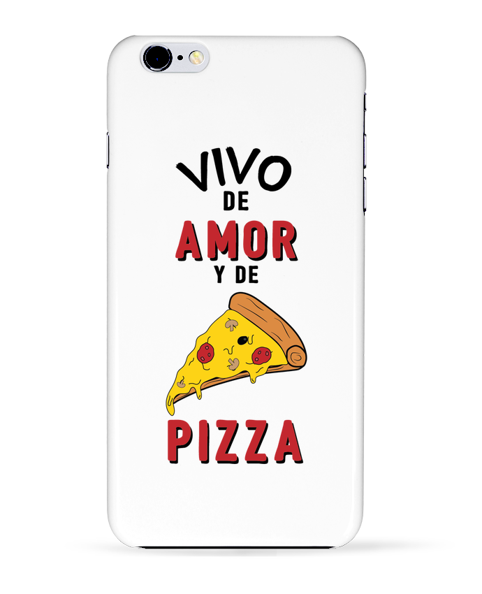 Carcasa Iphone 6+ Vivo de amor y de pizza de tunetoo