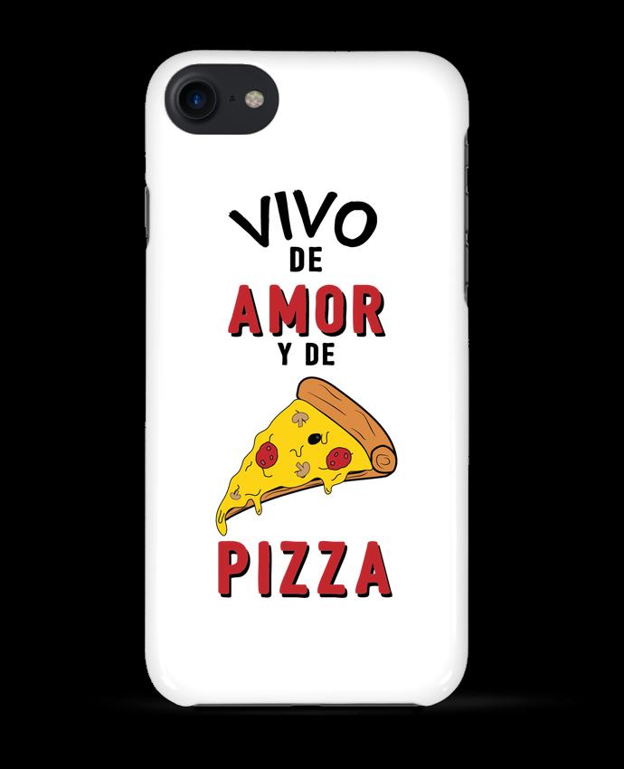 Carcasa Iphone 7 Vivo de amor y de pizza de tunetoo