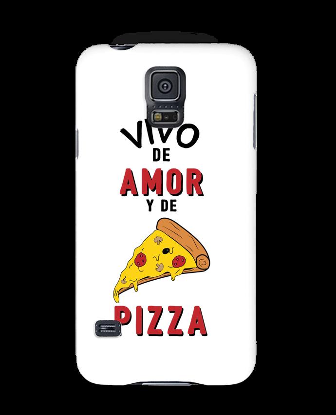 Carcasa Samsung Galaxy S5 Vivo de amor y de pizza por tunetoo