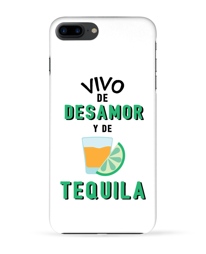 Carcasa Iphone 7+ Vivo de desamor y de tequila por tunetoo
