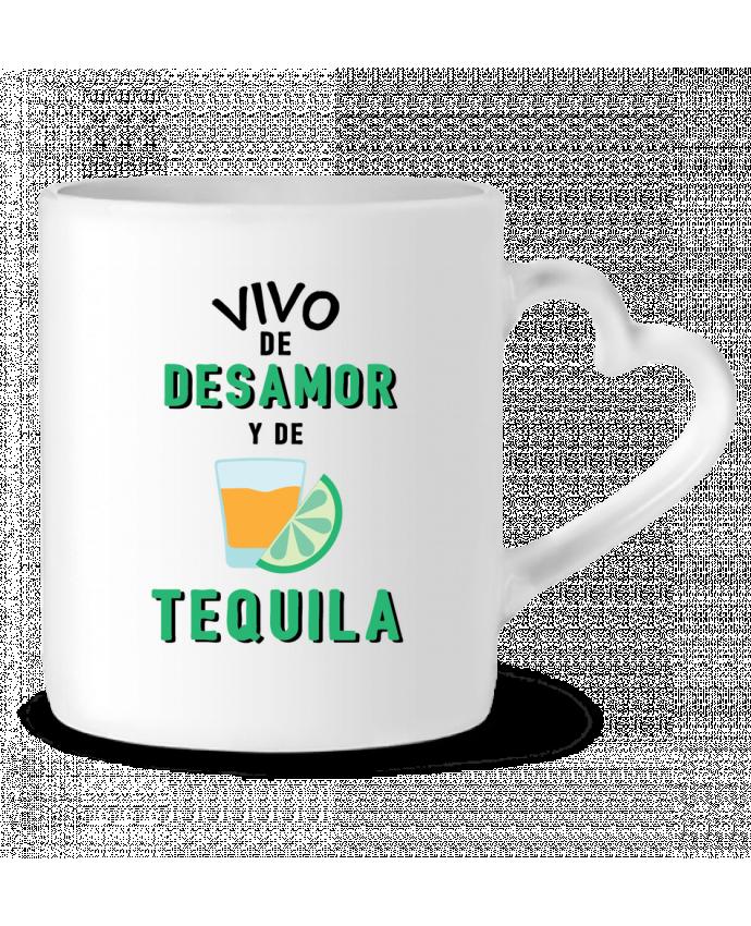 Taza Corazón Vivo de desamor y de tequila por tunetoo