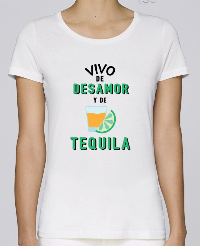 Camiseta Mujer Stellla Loves Vivo de desamor y de tequila por tunetoo