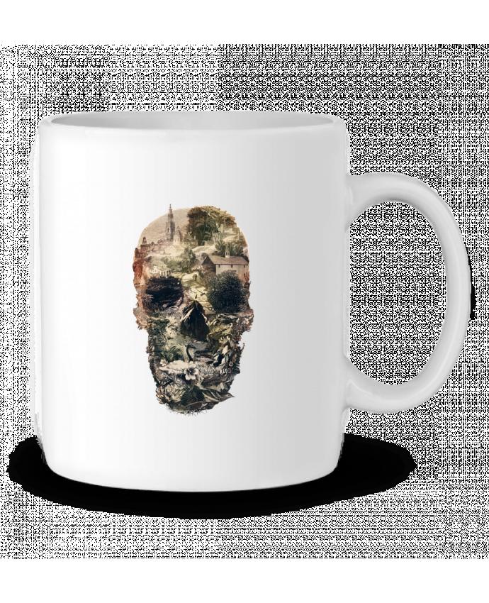 Taza Cerámica Skull town por ali_gulec