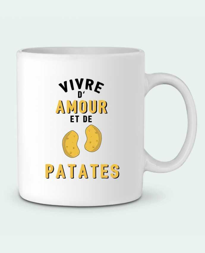 Taza Cerámica Vivre d'amour et de patates por tunetoo