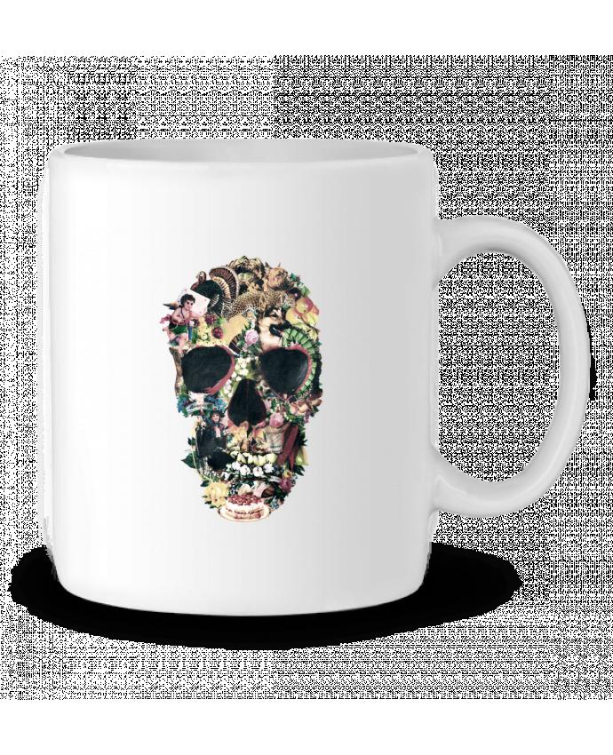 Taza Cerámica Vintage Skull por ali_gulec