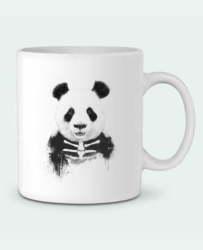 Taza Cerámica Zombie Panda por Balàzs Solti