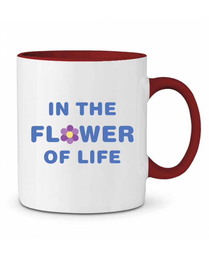Taza Cerámica Bicolor In the flower of life tunetoo