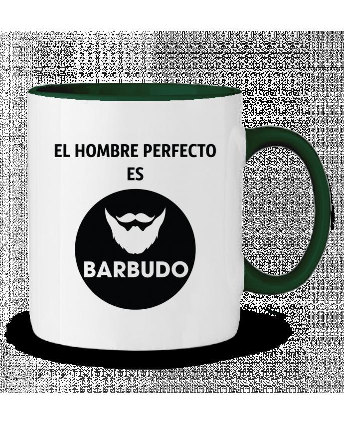 Taza Cerámica Bicolor El hombre perfecto es barbudo tunetoo
