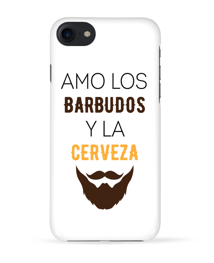 Carcasa Iphone 7 Amo los barbudos y ma cerveza de tunetoo