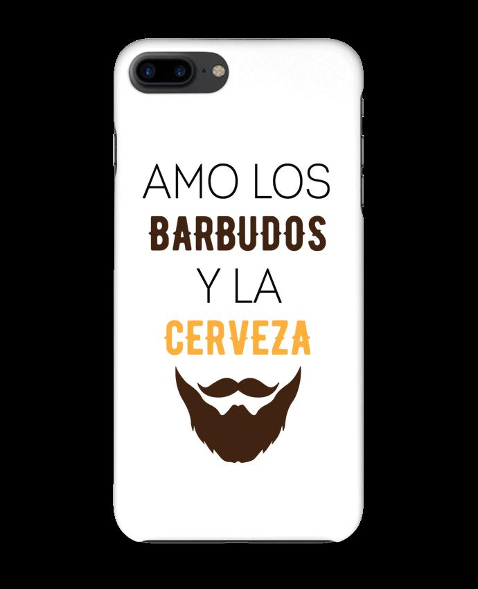 Carcasa Iphone 7+ Amo los barbudos y ma cerveza por tunetoo