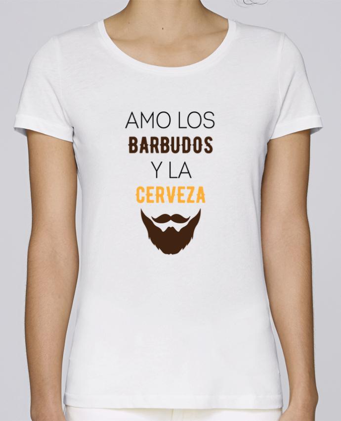 Camiseta Mujer Stellla Loves Amo los barbudos y ma cerveza por tunetoo