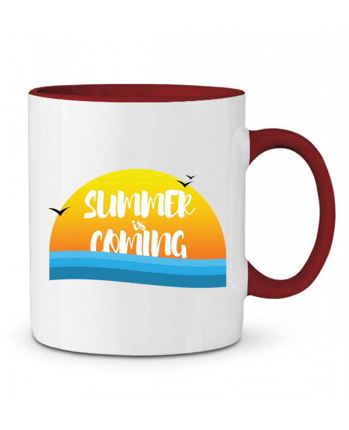 Taza Cerámica Bicolor Summer is coming tunetoo