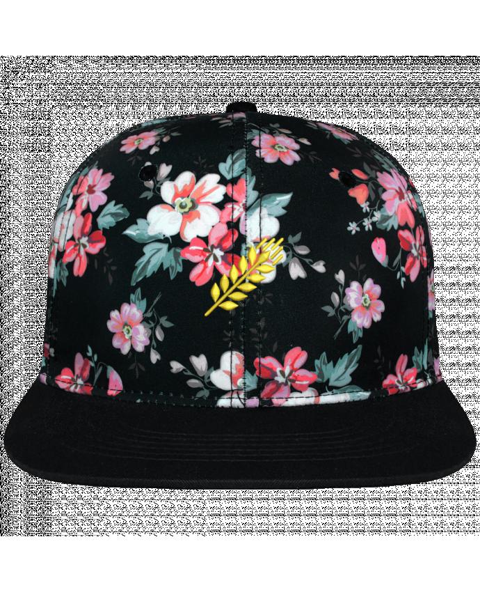Gorra Snapback Corona Diseño Floral Negro Blé brodé avec toile motif à fleurs 100% polyester et visière noire