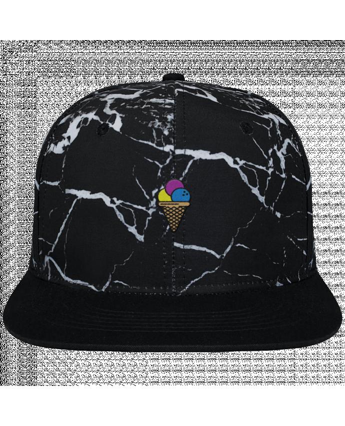 Gorra Snapback Diseño Mineral Negro Ice cream brodé et toile imprimée motif minéral noir et blanc