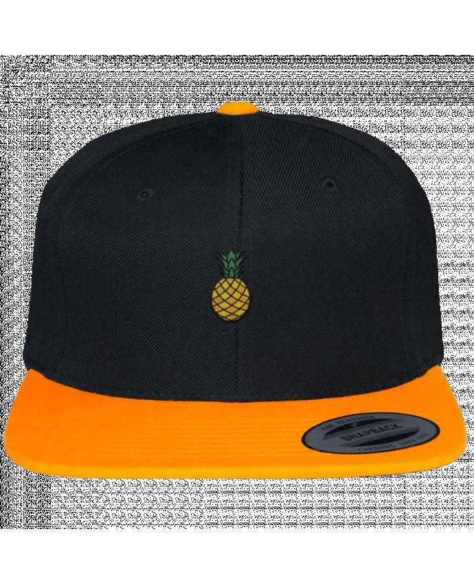 Gorra Snapback Bicolor Varsity Ananas orange por tunetoo