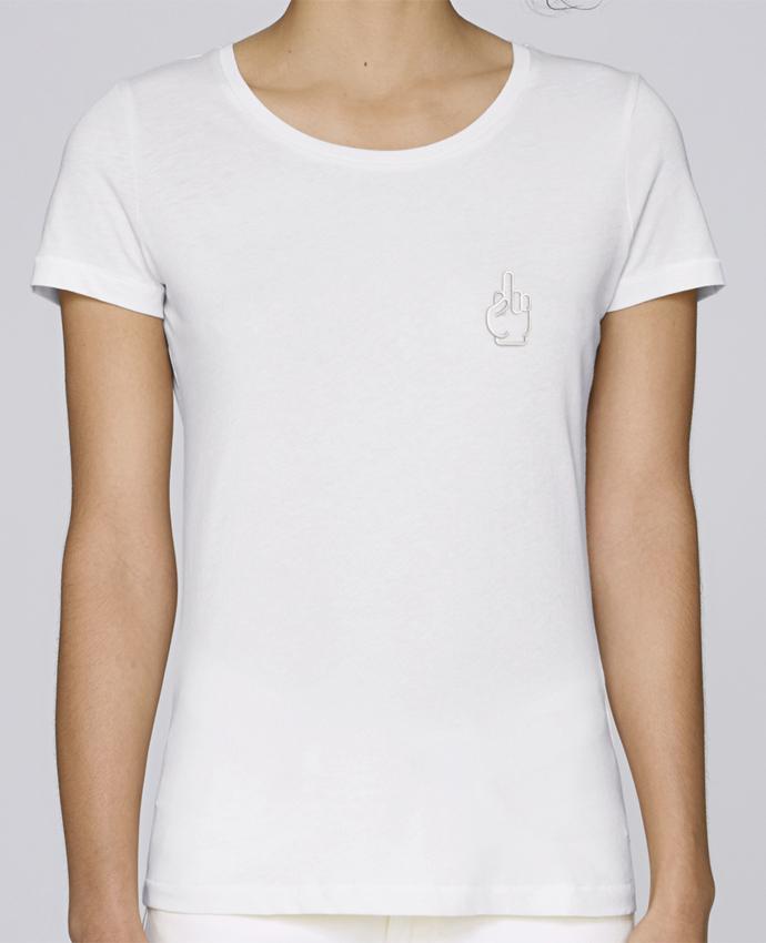 T-shirt  Femme Brodé Fuck por tunetoo