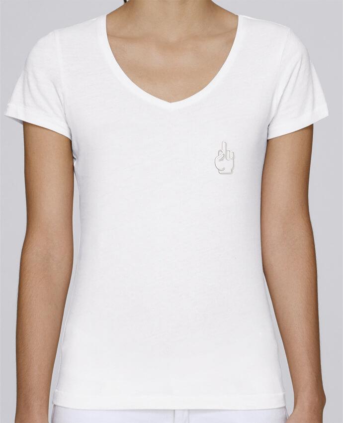 T-shirt femme brodé Stella Chooses Fuck por tunetoo