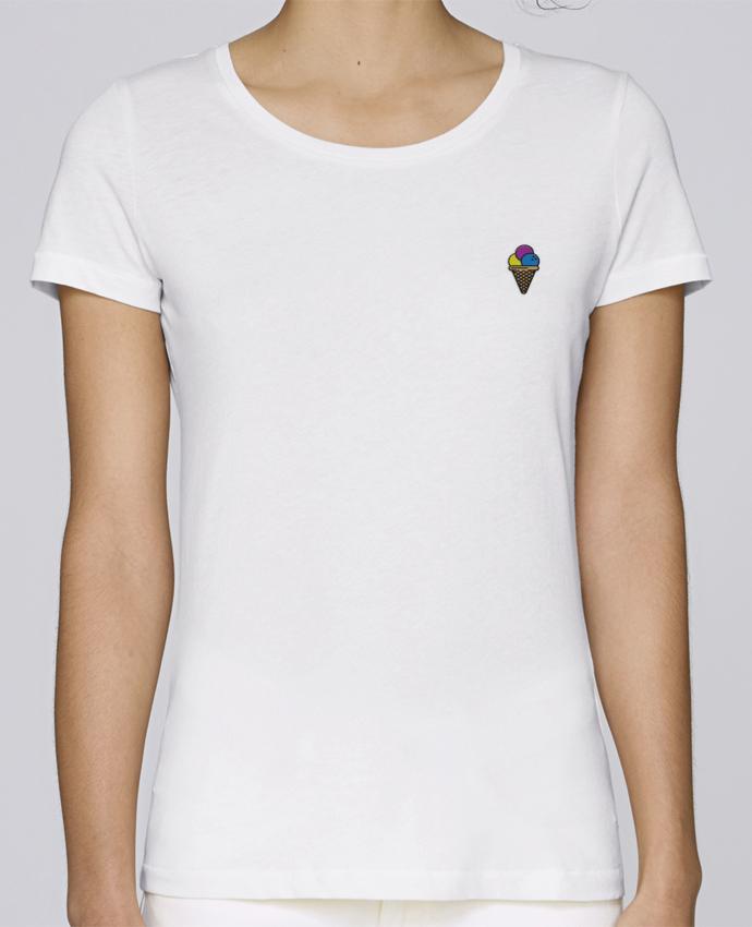 T-shirt  Femme Brodé Ice cream por tunetoo