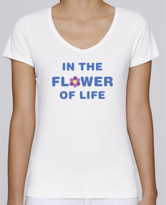 Camiseta Mujer Cuello en V Stella Chooses In the flower of life por tunetoo