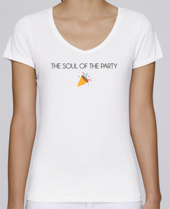 Camiseta Mujer Cuello en V Stella Chooses The soul of the porty basic por tunetoo