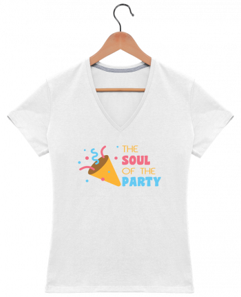 Camiseta Mujer Cuello en V The soul of the porty por tunetoo