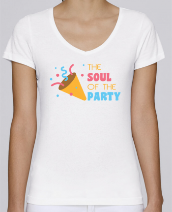 Camiseta Mujer Cuello en V Stella Chooses The soul of the porty por tunetoo