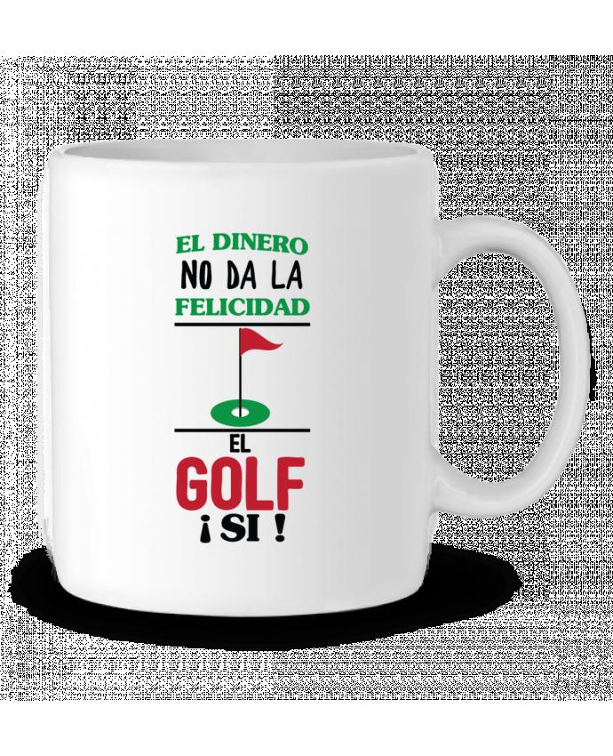 Taza Cerámica El dinero no da la felicidad, el golf si ! por tunetoo