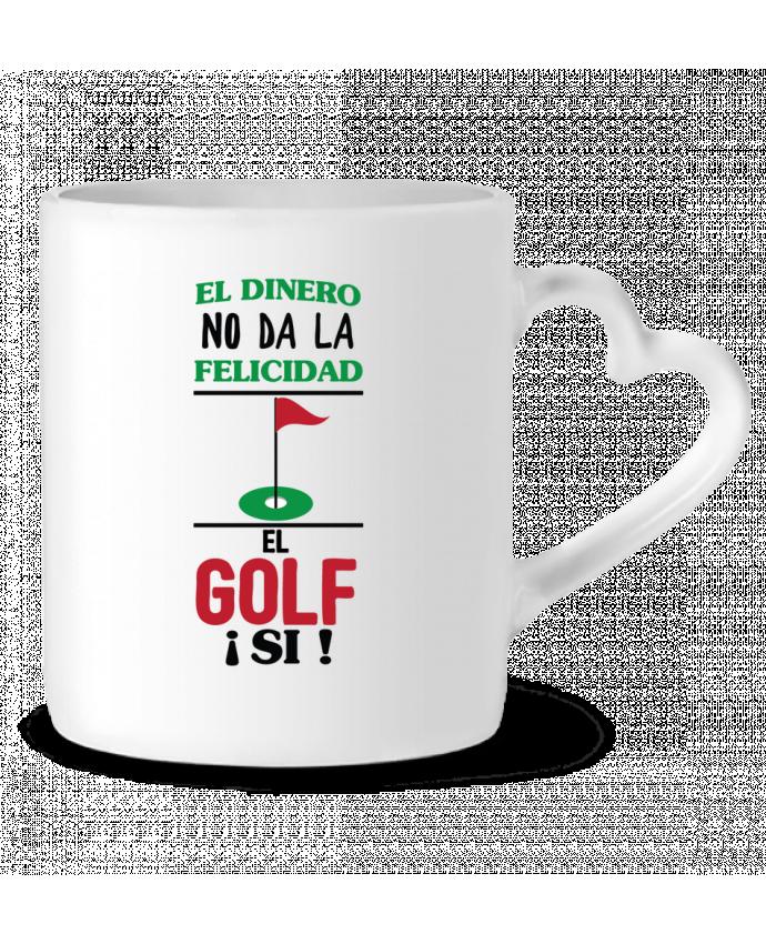 Taza Corazón El dinero no da la felicidad, el golf si ! por tunetoo