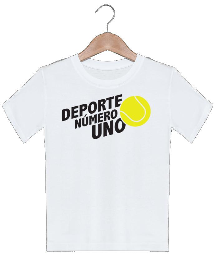 T-shirt garçon motif Deporte Número Uno Tennis tunetoo