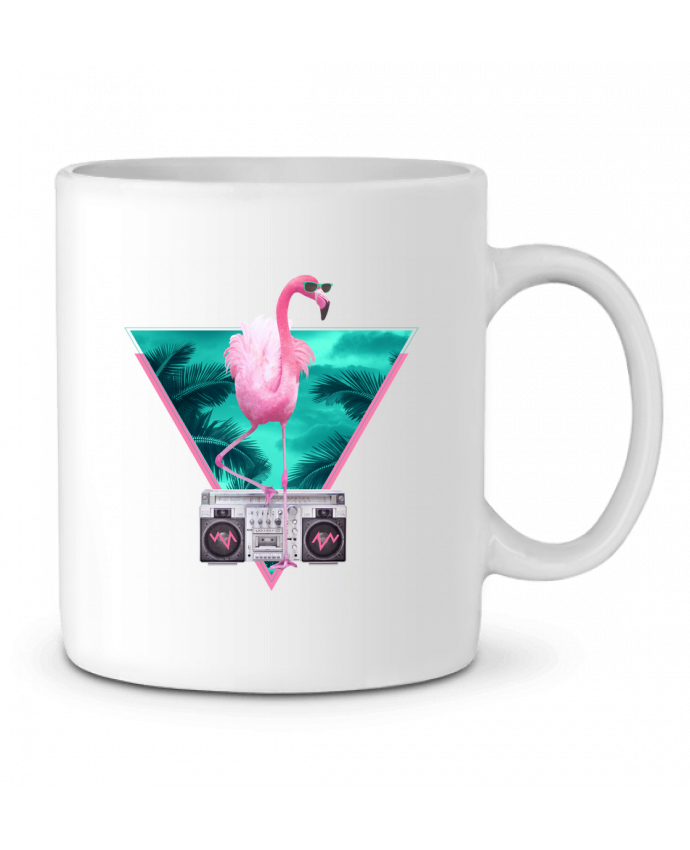 Taza Cerámica Miami flamingo por robertfarkas