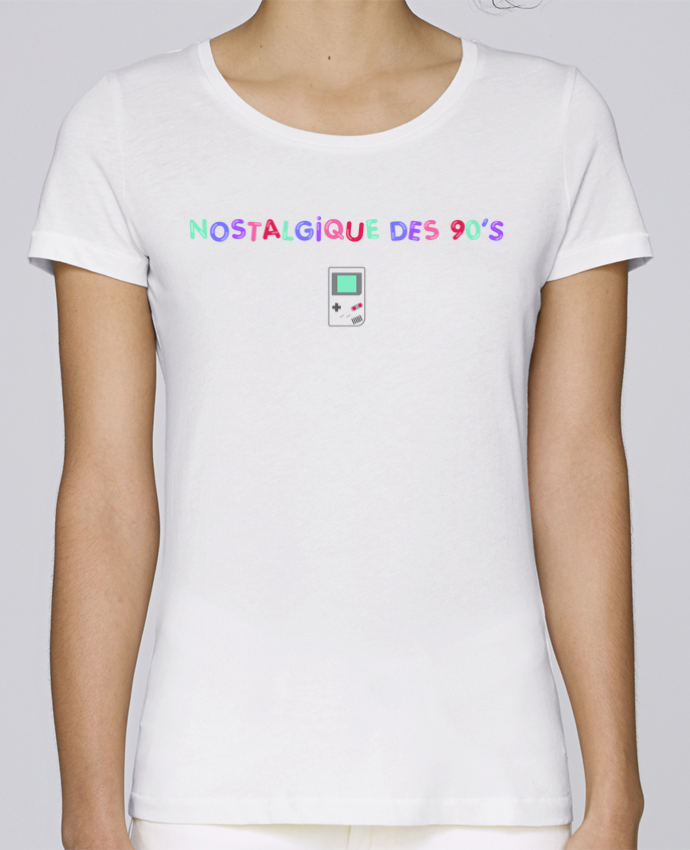 Camiseta Mujer Stellla Loves Nostalgique 90s Gameboy por tunetoo