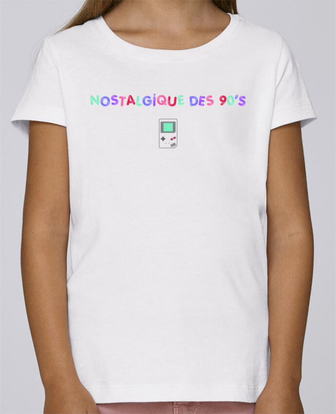 Camiseta Niña Stella Draws Nostalgique 90s Gameboy por tunetoo
