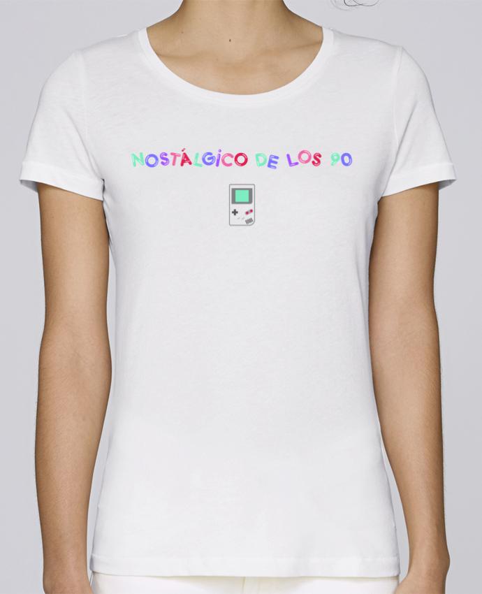 Camiseta Mujer Stellla Loves Nostálgico de los 90s Gameboy por tunetoo