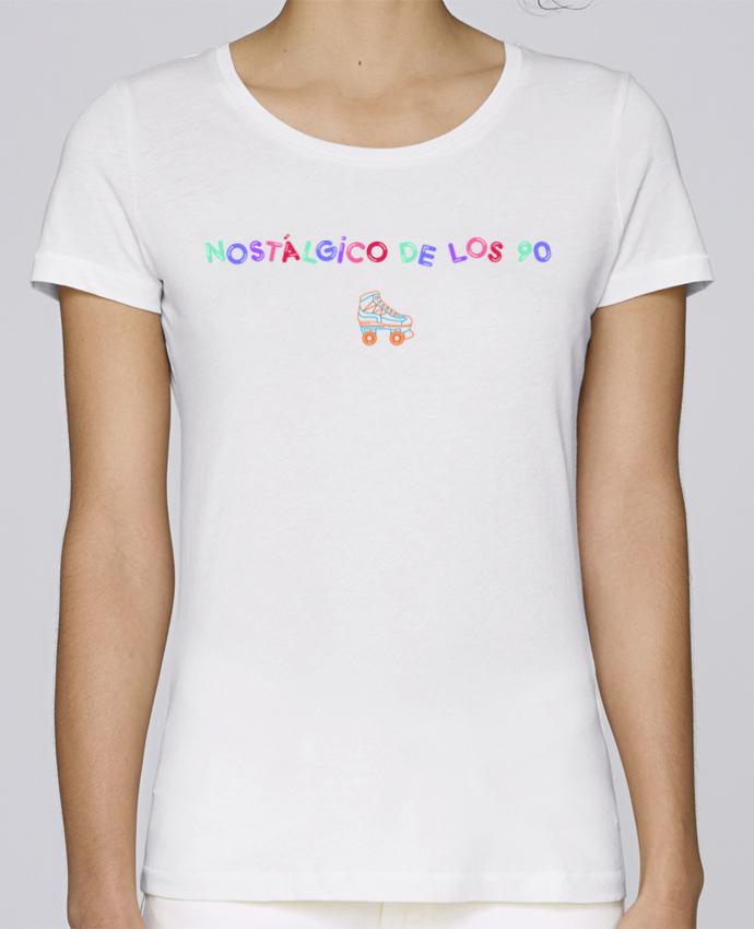 Camiseta Mujer Stellla Loves Nostálgico de los 90 Patines por tunetoo
