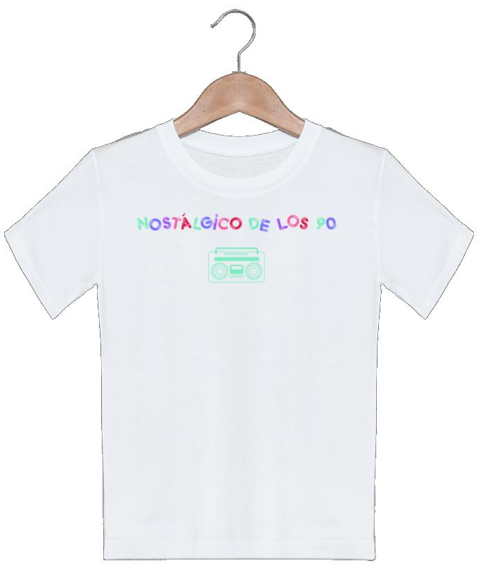 T-shirt garçon motif Nostálgico de los 90 Radio tunetoo
