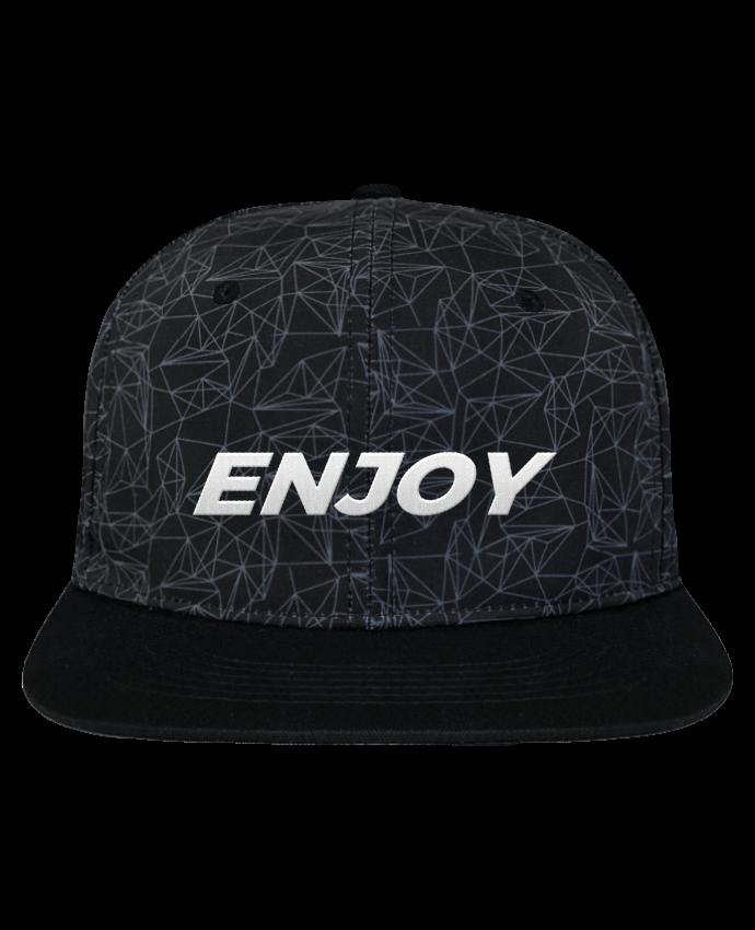Gorra Snapback Corona Diseño Geométrico Enjoy brodé avec toile imprimée et visière noire