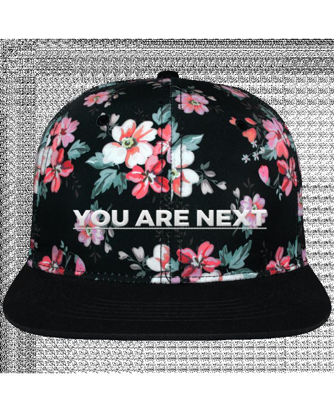 Gorra Snapback Corona Diseño Floral Negro You are next brodé avec toile motif à fleurs 100% polyester et visiè