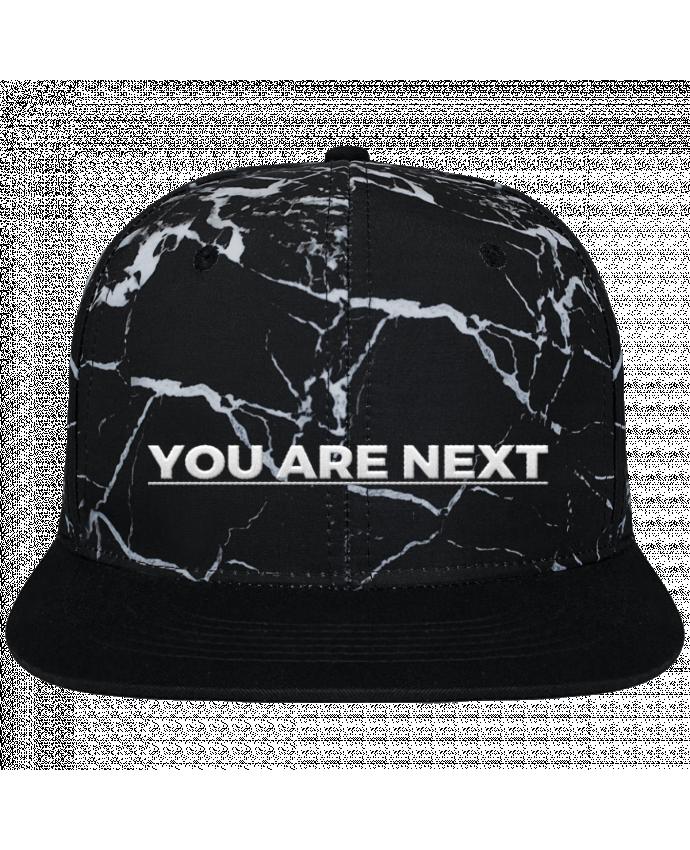 Gorra Snapback Diseño Mineral Negro You are next brodé et toile imprimée motif minéral noir et blanc