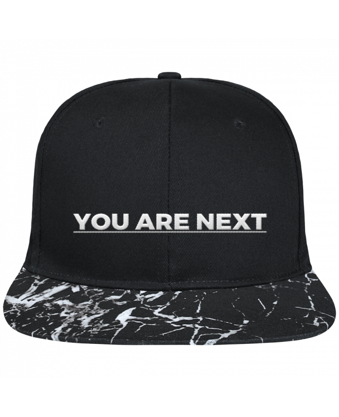 Gorra Snapback Visera Mineral negro You are next brodé avec toile noire 100% coton et visière imprimée m