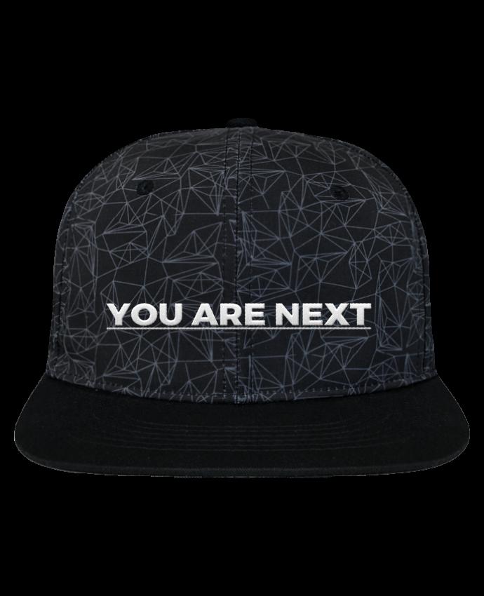 Gorra Snapback Corona Diseño Geométrico You are next brodé avec toile imprimée et visière noire