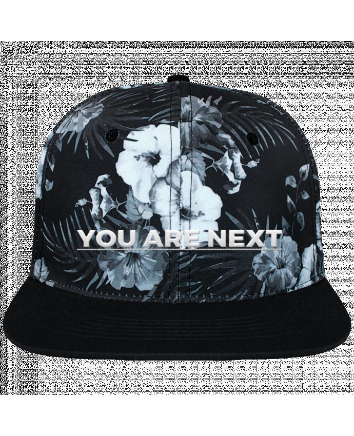Gorra Snapback Diseño Hawai You are next brodé et toile imprimée motif floral noir et bla