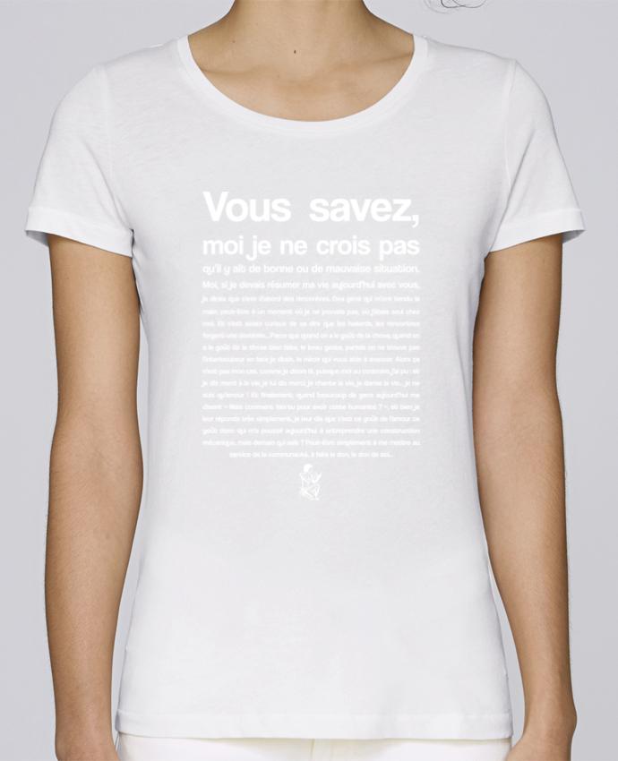 Camiseta Mujer Stellla Loves Citation Scribe Astérix por tunetoo