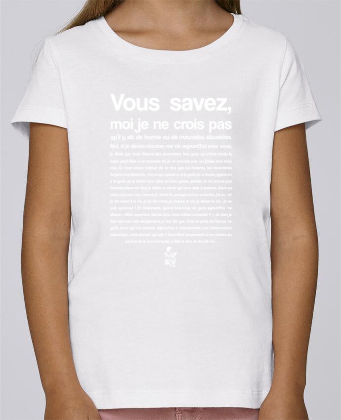 Camiseta Niña Stella Draws Citation Scribe Astérix por tunetoo