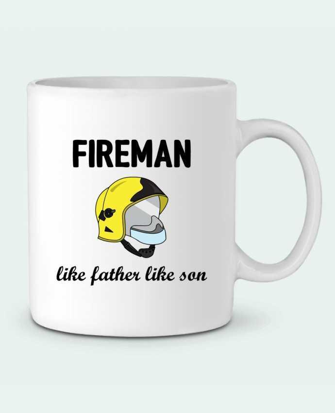 Taza Cerámica Fireman Like father like son por tunetoo