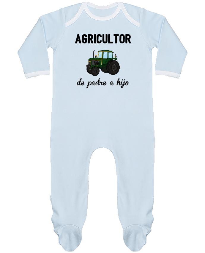 Pijama Bebé Manga Larga Contraste Agricultor de padre a hijo por tunetoo