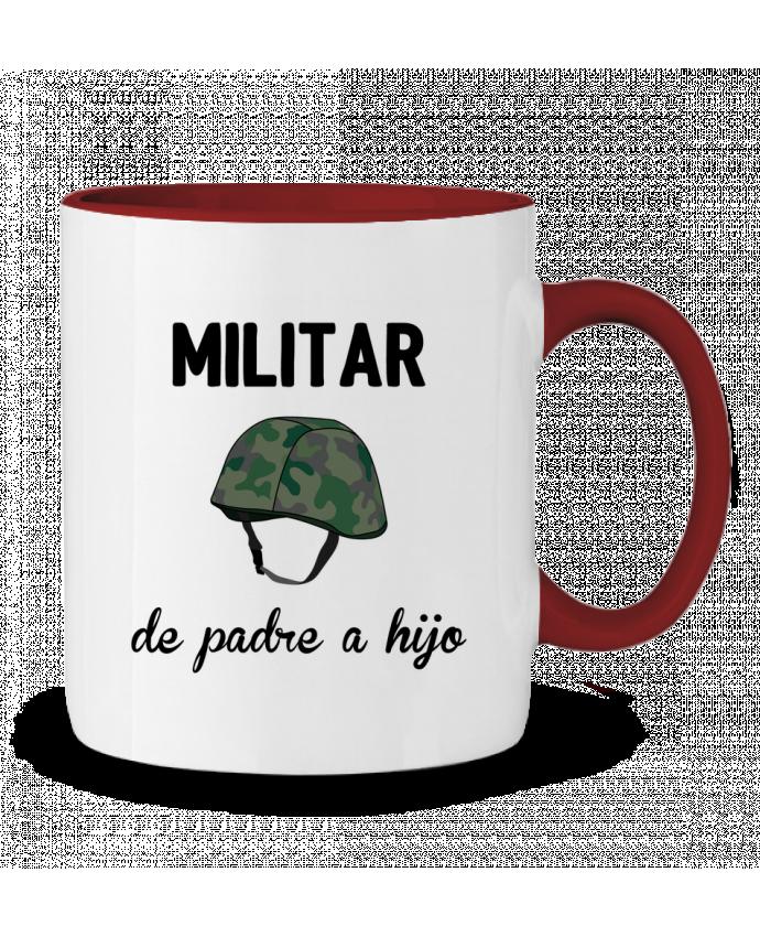 Taza Cerámica Bicolor Militar de padre a hijo tunetoo