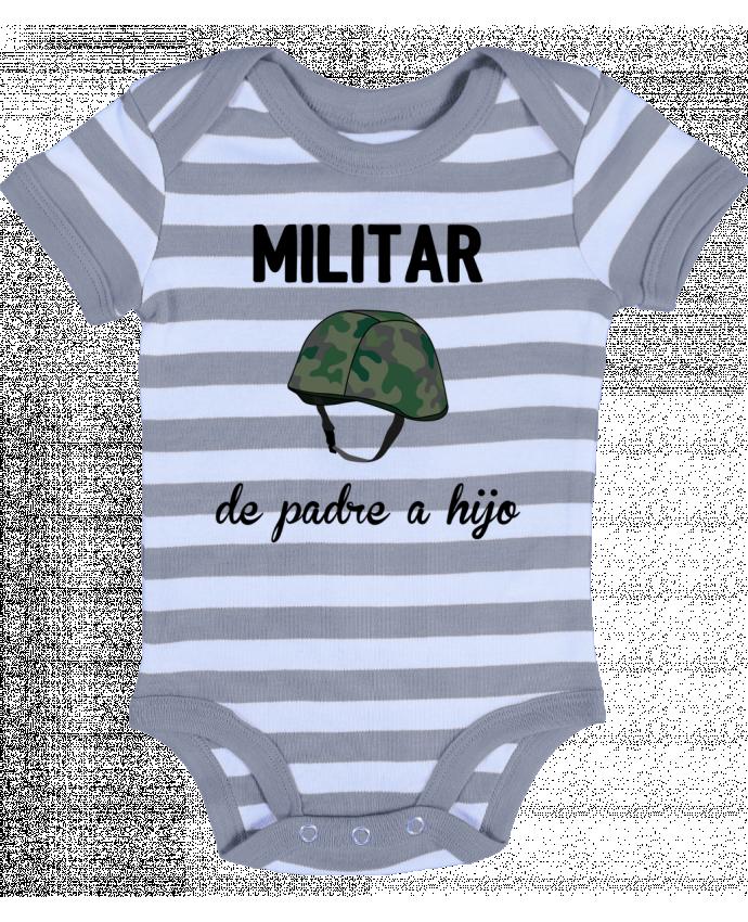 Body Bebé a Rayas Militar de padre a hijo - tunetoo
