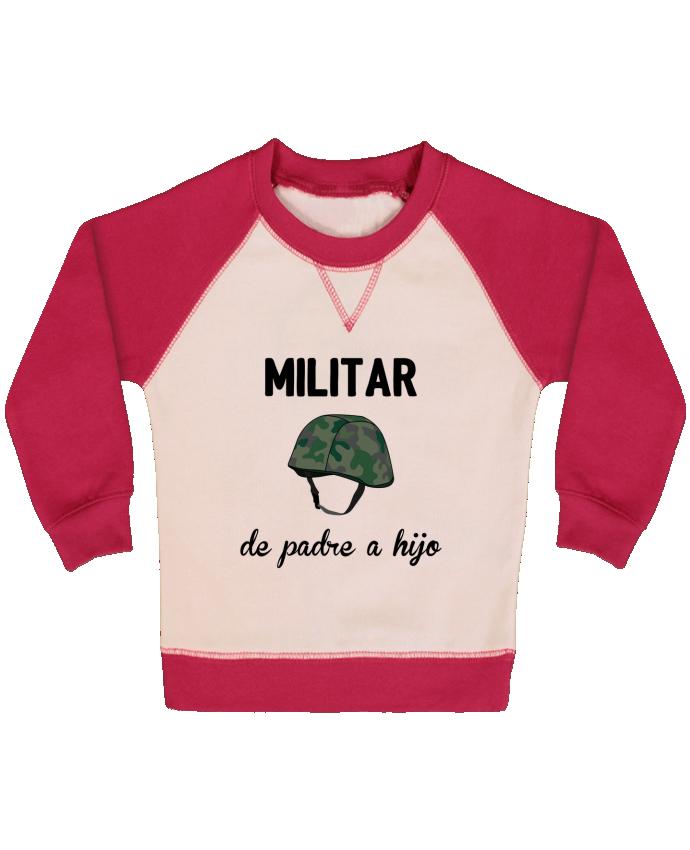 Sudadera Bebé Cuello Redondo Mangas Contraste Militar de padre a hijo por tunetoo