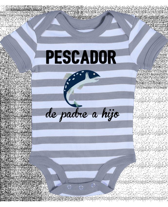 Body Bebé a Rayas Pescador de padre a hijo - tunetoo