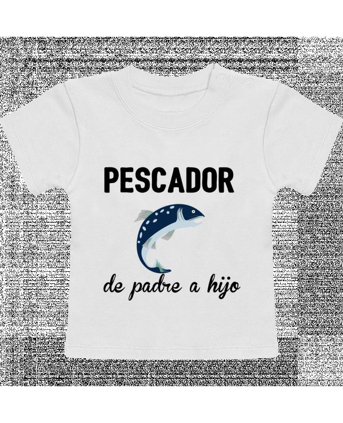 Camiseta Bebé Manga Corta Pescador de padre a hijo manches courtes du designer tunetoo